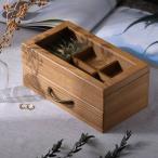 木製 ジュエリー 宝石箱 ジュエルボックス コレクションボックス ナチュラルウッド ジュエリーボックス