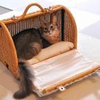 キャリーバッグ クッション ショルダー 小型犬 ネコ ラタン キャリーマイン