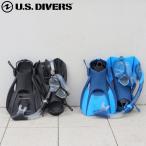 シュノーケルセット 大人 ドライスノーケルセット メンズ USダイバーズ アドミラル ADMIRAL マスク スノーケル フィン バッグ の4点セット