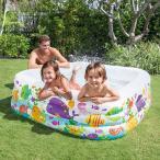 ビニールプール intex 家庭用プール クリアビュー アクアリウム 159cm 57471 子供用ビニールプール ファミリープール レジャー用品