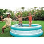 ビニールプール 大型 intex 家庭用プール シースルーラウンド 203cm 57489 子供用ビニールプール ファミリープール レジャー用品