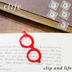 メール便 クリップ おしゃれ マネークリップ クリフ Clife clip and life curiosity メガネ型クリップ ポケット 真鍮