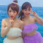 こじはる たかみな 小嶋陽菜 高橋みなみ AKB48 水着 チュール 天使 ゆめかわいい フェアリー フリル シースルー ビキニ