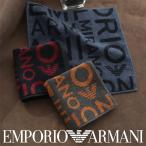 EMPORIO ARMANI エンポリオ アルマーニ EAロゴ 綿100% タオルハンカチ(ハンドタオル)男性 メンズ プレゼント 贈答 ギフト 02340017