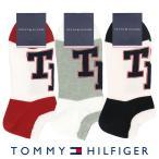 TOMMY HILFIGER トミーヒルフィガー 綿混 THロゴ スニーカー丈 メンズ カジュアル ソックス 靴下 男性 紳士 プレゼント ギフト 02558001