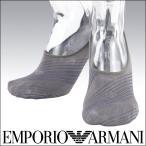 EMPORIO ARMANI クールビズ メンズ ソックス 靴下 Casual バイアスストライプ フットカバー ソックス 2322-033 ポイント10倍