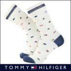 ショッピングHILFIGER TOMMY HILFIGER トミーヒルフィガー クリスマスプレゼント クルー丈 メンズ ソックス 靴下  綿混 フラッグ柄 ソックス ポイント10倍