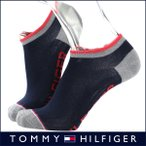 ショッピングHILFIGER TOMMY HILFIGER トミーヒルフィガー 日本製 メンズ ソックス 靴下 綿混 バイカラー ロゴ入りデザイン フットカバー ショートソックス