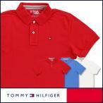65%OFFセール TOMMY HILFIGER トミーヒルフィガー 半袖 鹿の子 無地 ポロシャツ 綿100% フラッグ刺繍 5335-4136-b 全品ポイント10倍