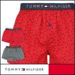 ショッピングHILFIGER 40%OFFセール TOMMY HILFIGER トミーヒルフィガー Flag Woven Boxer Geo コットン ジオ トランクス 5335-5235 メンズ 全品ポイント10倍
