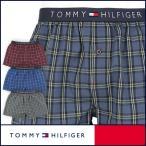 50%OFFセール TOMMY HILFIGER トミーヒルフィガー Flag Woven Boxer Check コットン チェック トランクス 5335-5240 メンズ ポイント10倍