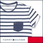 ショッピングHILFIGER TOMMY HILFIGER トミーヒルフィガー クルーネック ボーダー 半袖 Tシャツ 綿混 メンズ