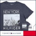 ショッピングHILFIGER TOMMY HILFIGER トミーヒルフィガー クルーネック モノクロプリント 半袖 Tシャツ 綿混 メンズ