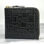 COMME des GARCONS コムデギャルソン L字 ミニウォレット SA3100EL EMBOSSES LOGO BLACK/ブラック