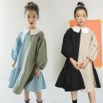 子供服 ワンピース キッズ 女の子 秋 ジュニア 女の子 ワンピース キッズ 長袖 ガールズワンピース ワンピ 165 160CM カジュアル 韓国 ファッション