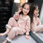 パジャマ キッズ 女の子 長袖 星 ルームウェア 可愛い 上下セット かわいい 秋 子供 薄手 女 コットン 子供服 ジュニア おしゃれ 100cm-160cm