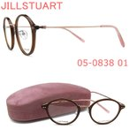 JILLSTUART ジルスチュアート メガネ フレーム 05-0838 01 眼鏡 ブラウン×ピンクゴールド ブランド 伊達メガネ 度付き レディース 女性