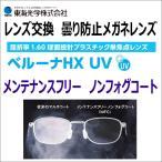 レンズ交換用 曇り防止メガネレンズ 曇り止め 東海光学 ベルーナHXUV 1.6球面HMCレンズ 2枚1組