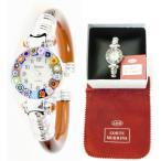 イタリア製メーカー正規品コルテムリーナ(Corte Murrina)ベネチアンガラスバングル腕時計シルバーブラウン