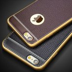 iphone8 ケース おしゃれ 耐衝撃 メッキ加工 軽量  iphone7 ケース レザー調 TPU  アイフォン6sケース  iphonex/iphone5sケース iphone7Plus/8Plus