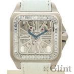 CARTIER(カルティエ)サントス 100 XL スケルトン バゲットダイヤモンド 〔腕時計〕〔日本国内正規品〕〔純正ダイヤモンド〕〔メンズ〕