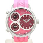 CURTIS&Co(カーティス)BIG TIME WORLD 50mm(Pink) カーティス ビックタイムワールド50mm アフターダイヤモンド【腕時計】