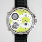 CURTIS&Co(カーティス)BIG TIME WORLD 57mm(Green) カーティス ビックタイムワールド57mm アフターダイヤモンド【腕時計】