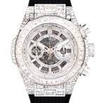 ウブロ ビッグバン ウニコ ハイジュエリー フルバゲットダイヤモンド〔HUBLOT〕〔18Kホワイトゴールド〕〔メンズ〕〔腕時計〕