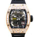 リシャールミル【RICHARD MILLE】RM029 オートマティック オーバーサイズデイト ローズゴールド バゲットダイヤモンド〔腕時計〕〔メンズ〕