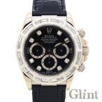 ROLEX(ロレックス)DAYTONA デイトナ ブラック文字盤 Ref.16519G〔18KWG〕〔バゲットダイヤモンド/アフターダイヤ〕〔自動巻き〕〔腕時計〕〔メンズ〕