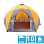 8-10人高品質防風防水屋外で 3000 ミリメートル六角テント耐久家族キャンプ用品パーティーマーキーテント