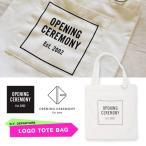 オープニングセレモニー OPENING CEREMONY トートバッグ バッグ ボックスロゴ エコバッグ 白 ホワイト デニム OC シンプル トレンド 流行り 人気