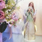 天使の置物 ケアレンH. 花束を持つ エンジェル
