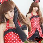 FakeLips コスプレ ミニ 水玉 ハロウィン メイド服 猫耳 セクシー コスチューム 衣装