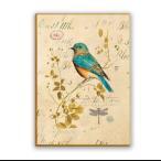 ファブリックパネル 鳥 キャンバス アート インテリア 絵画 壁掛け 送料無料