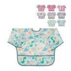 バンキンス Bumkins お食事エプロン スリーブビブ 長袖 6〜24ヶ月 エプロン スタイ 防水 洗濯可 ビブ