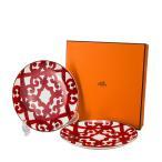 Hermes エルメス ガダルキヴィール Dessert Plate デザートプレート 皿 21.5cm 011007P 2個セット