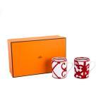 エルメス Hermes マグカップ ガダルキヴィール ペア レッド 300mL 011835P Mug Balcon de Guadalquivir 食器 コーヒーカップ 磁器