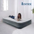 【正規販売店】 エアーベッド インテックス Intex 電動 ダブル フルコンフォートプラッシュ ミッドライズ エアベッド 67767