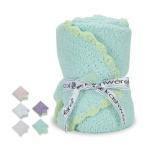 KASHWERE カシウェア ベビーブランケット & 帽子 Baby Blanket - Solid w/ Trim