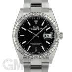 ロレックス デイトジャスト 36 126284RBR ブラック オイスターブレスレット ROLEX 新品メンズ 腕時計 送料無料