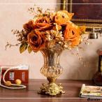 アンティーク 花瓶 フラワーベース ガラス クリスタル バロック調 装飾 ロココ調 オシャレ コンポート 高さ 24cm 高級