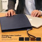 ノートパソコン ケース クラッチバッグ パソコンケース 送料無料 バッグ PCバッグ MacBook Pro 13インチ GNINE ヴィンテージフェイクレザークラッチ