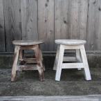 ナチュラル家具アンティークカラースツールカフェエイジング塗装バリ家具インテリア雑貨家具台踏み台木製スツールアジアン家具椅子木製いす
