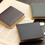 二つ折り財布 メンズ 本革 日本製 BOX小銭入れつき