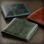 財布 メンズ 二つ折り 本革 小銭入れなし 薄い財布 ABIES L.P. アビエス
