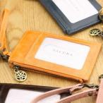SACURA 日本製 牛革 ファスナーポケット付パスケース 「TORTA」 多機能 キーケース 小銭入れ コインケース 定期入れ