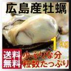 牡蠣 わけあり 1キロ約50粒 送料無料 やや小粒 広島産 殻なし 小さい分粒数たっぷり