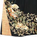 リサイクル 着物 留袖 正絹五三の桐紋金彩友禅比翼仕立袷黒留袖 レディース