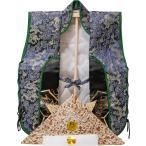 陣羽織(金襴兜) 男の子 祝い着 子供用 スタンド付